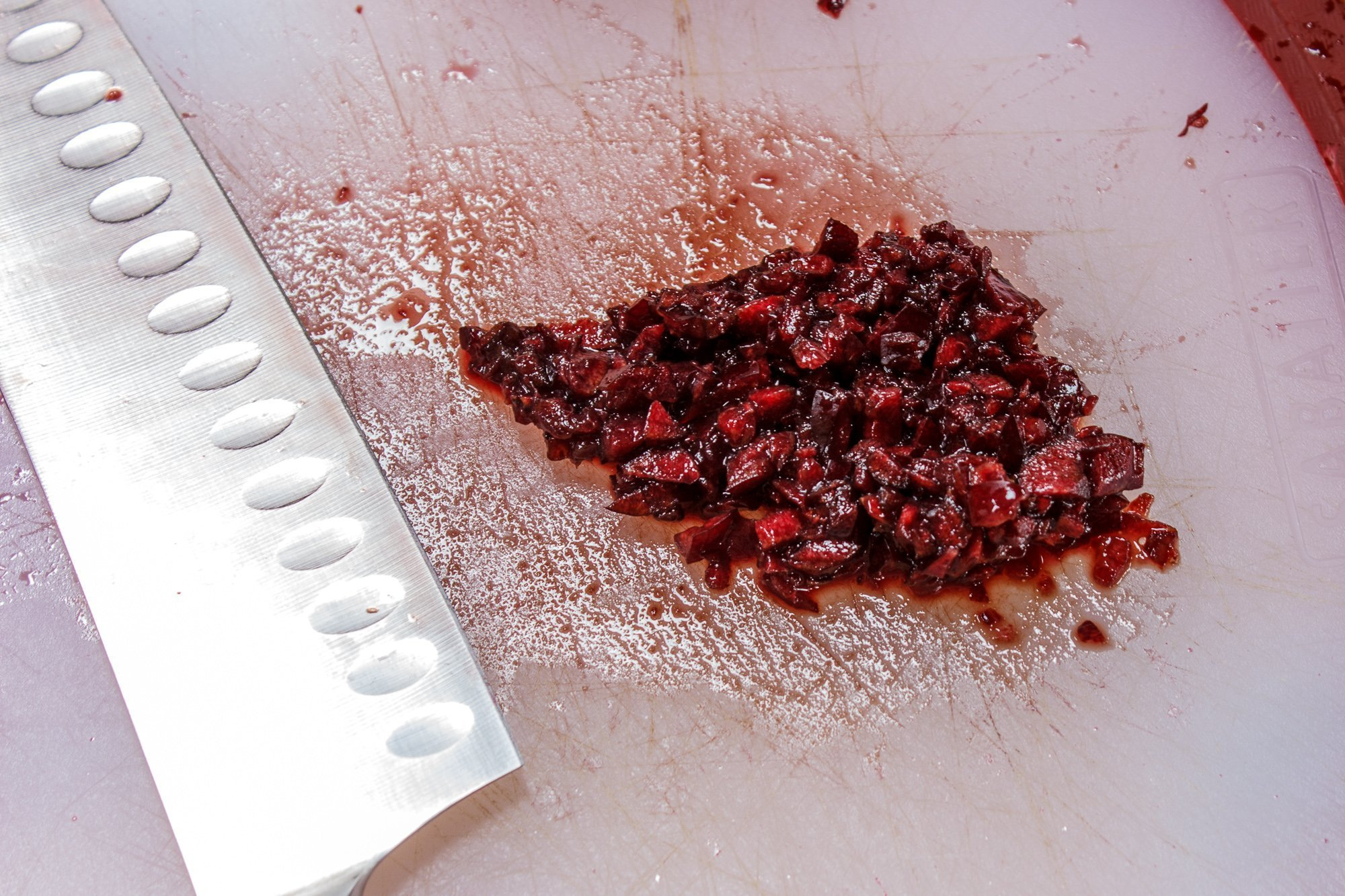 minced cherries for cherry ginger kombucha recipe